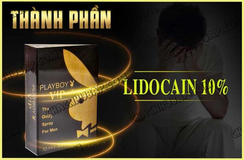 Chai xịt chống xuất tinh sớm Playboy Vip thành phần lidocain 10%