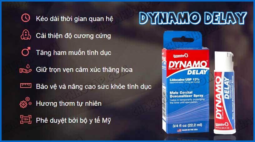 Chai xịt kéo dài thời gian quan hệ Dynamo Delay hàng cao cấp nhập Mỹ