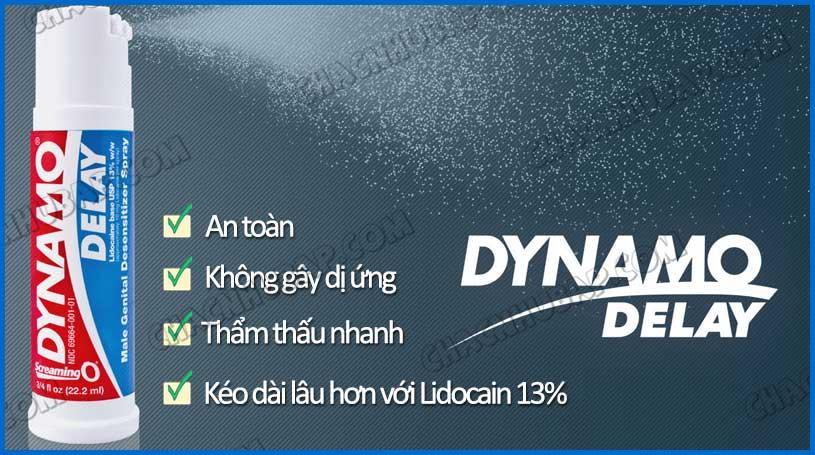 Chai xịt Dynamo Delay an toàn, không tác dụng phụ